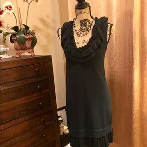 ✨ Beautiful Nanette Lepore dark navy sweater dress